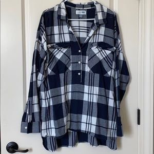"Old Navy ""Boyfriend"" Plaid Tunic"